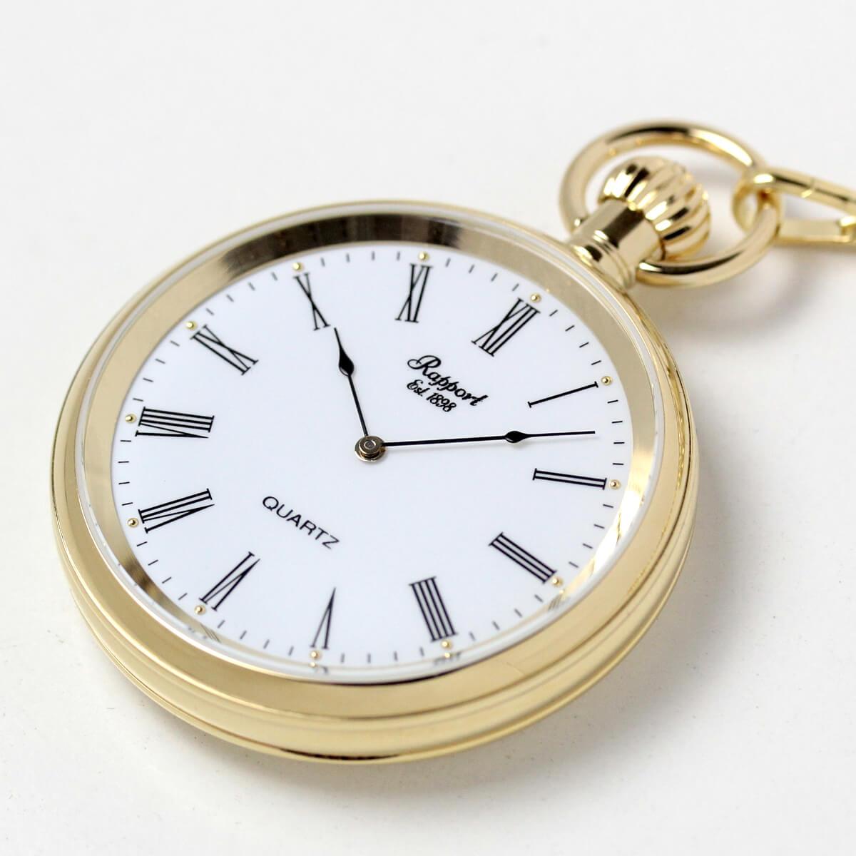 イギリスブランド rapport(ラポート) 懐中時計 pw38 手に乗せたイメージ