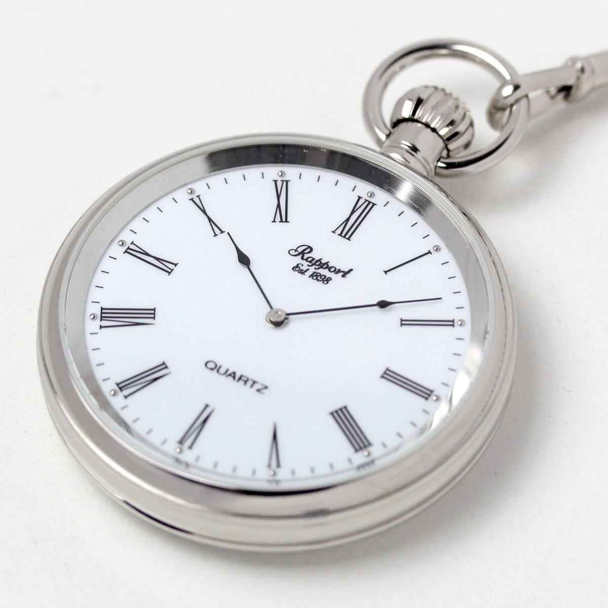 イギリスブランド rapport(ラポート) 懐中時計 pw39 手に乗せたイメージ