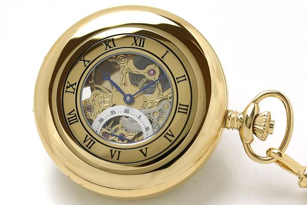 ラポート懐中時計 pw44 ハーフハンターケース