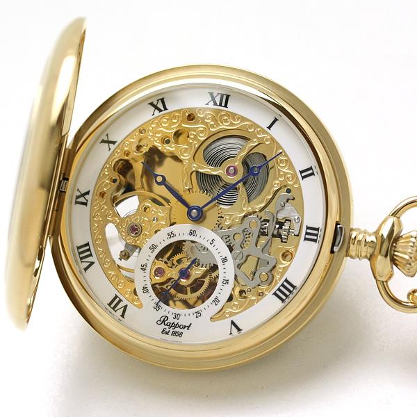 ラポート懐中時計 pw44 スケルトン