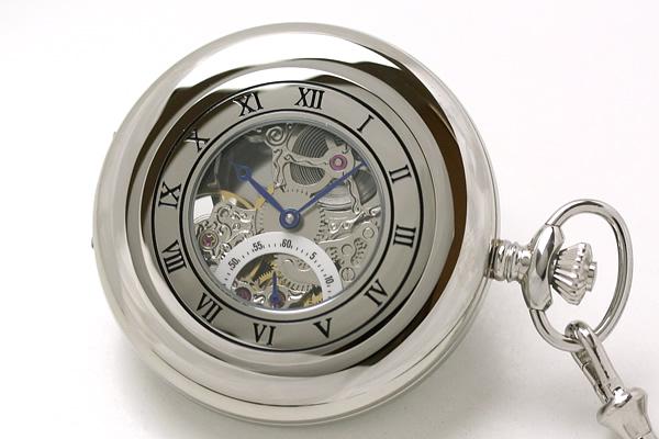 ラポート懐中時計 pw45 ハーフハンターケース