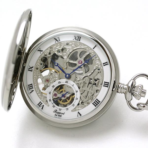 ラポート懐中時計 pw45 スケルトン