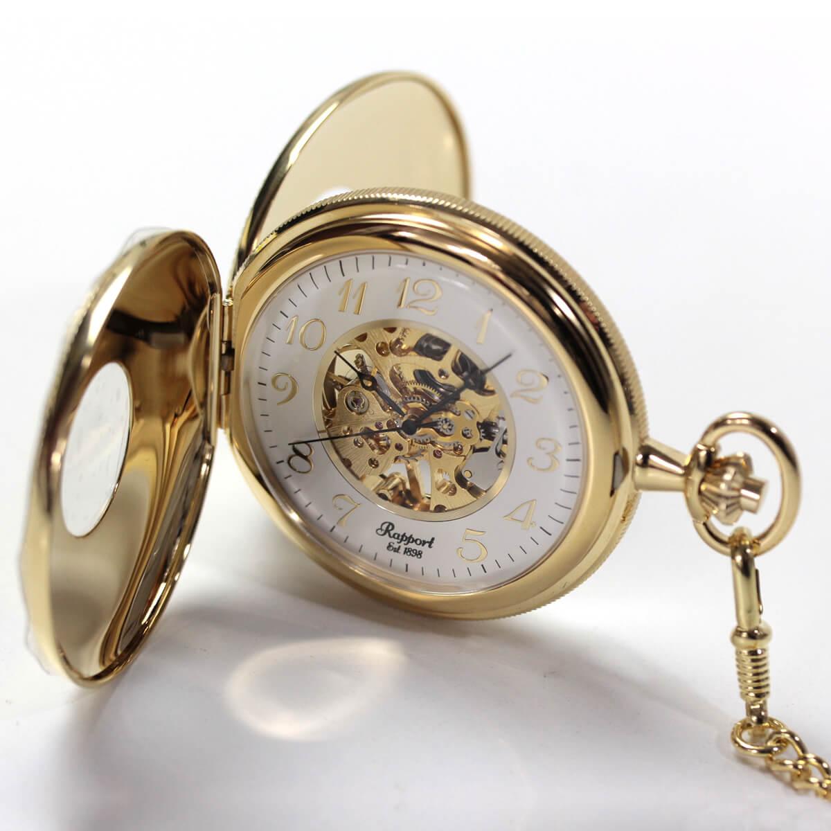 pw46 ラポート 両蓋開き懐中時計
