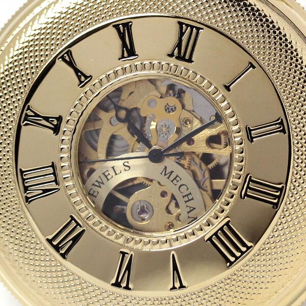 イギリスブランド rapport(ラポート) 懐中時計 pw48 蓋を閉じた状態のアップ