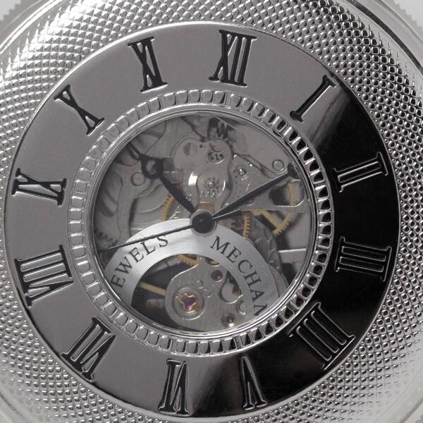 イギリスブランド rapport(ラポート) 懐中時計 pw49 蓋を閉じた状態のアップ
