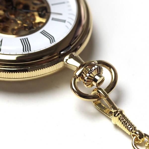 イギリスブランド rapport(ラポート) 懐中時計 pw96 スケルトン部分アップ