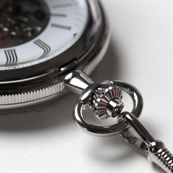 イギリスブランド rapport(ラポート) 懐中時計 pw97 スケルトン部分アップ