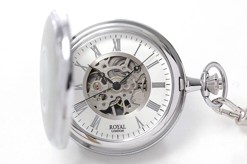 ロイヤルロンドン(ROYAL LONDON) 懐中時計 90029-01 9808045 手巻き式 蓋付き ふたつき スケルトン