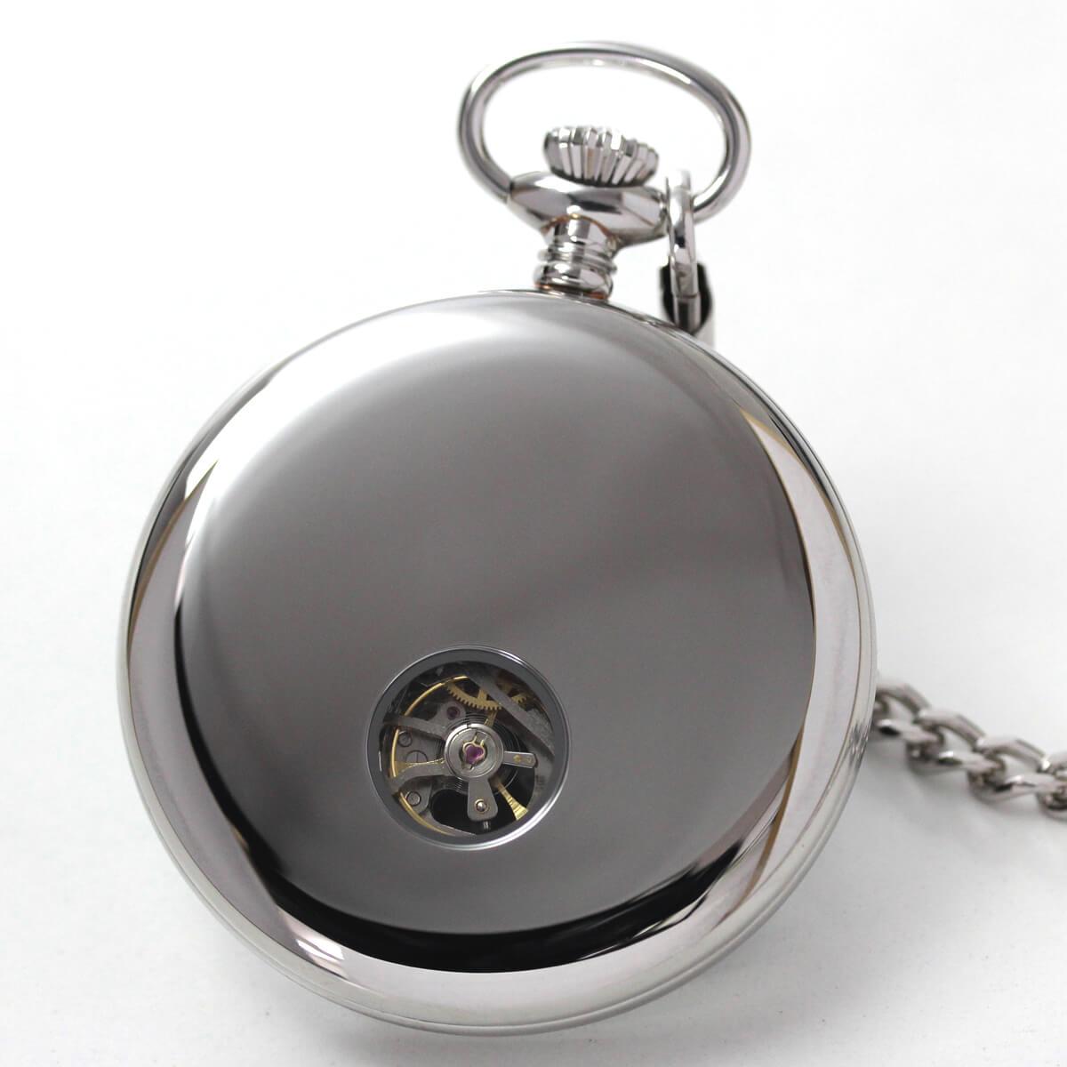 ROYAL LONDON(ロイヤルロンドン) 手巻きスケルトン懐中時計 90049-01 本体裏側