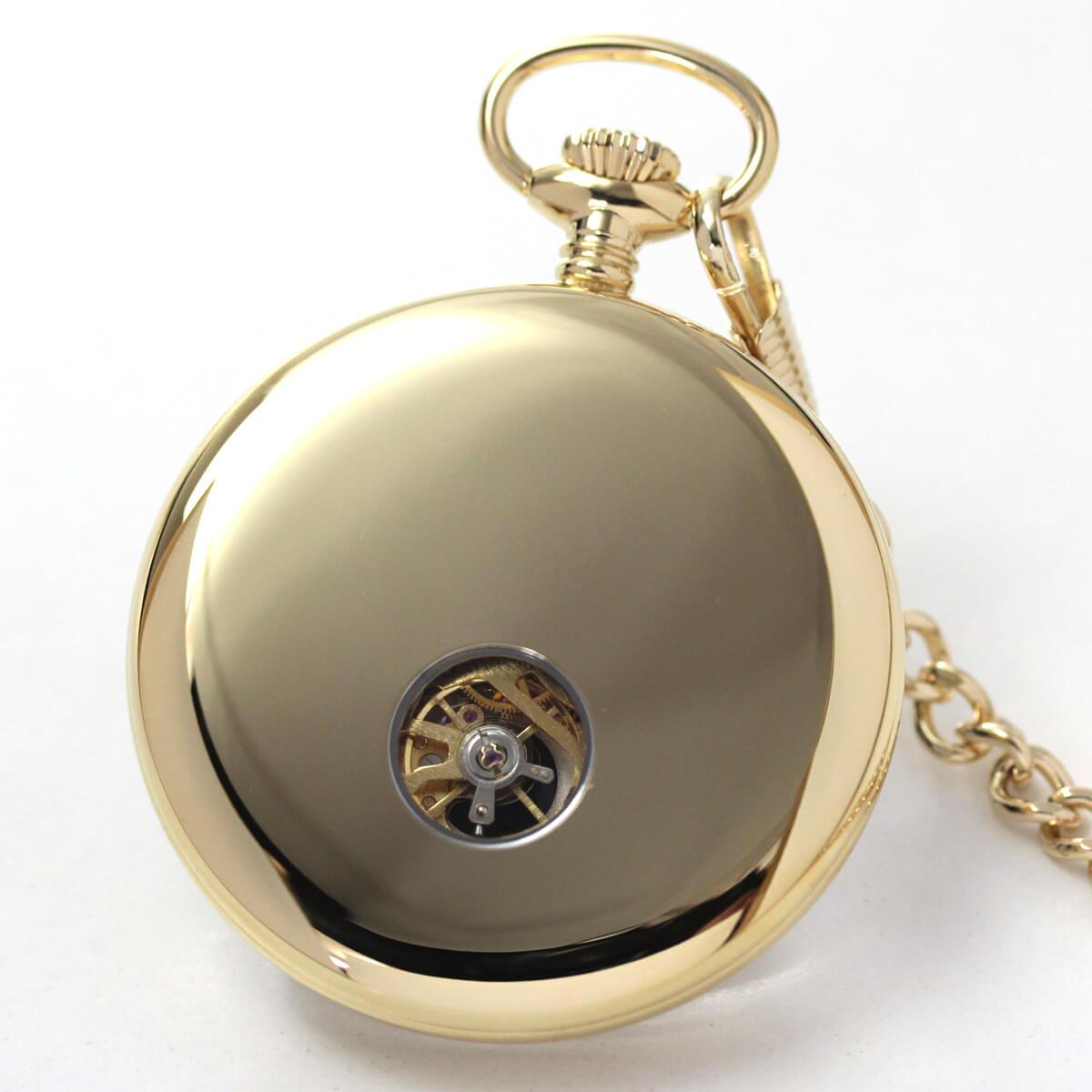 ROYAL LONDON(ロイヤルロンドン) 手巻きスケルトン懐中時計 90049-02 本体裏側