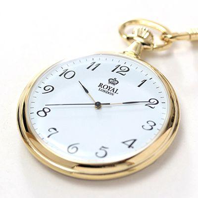 中身がよく見える懐中時計