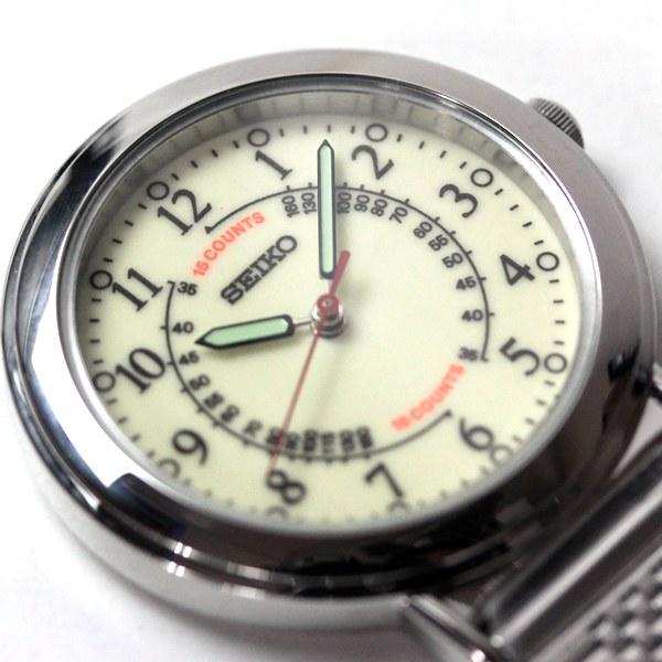 文字盤に脈拍を測定する時に便利な簡易脈拍計(パルスメーター)