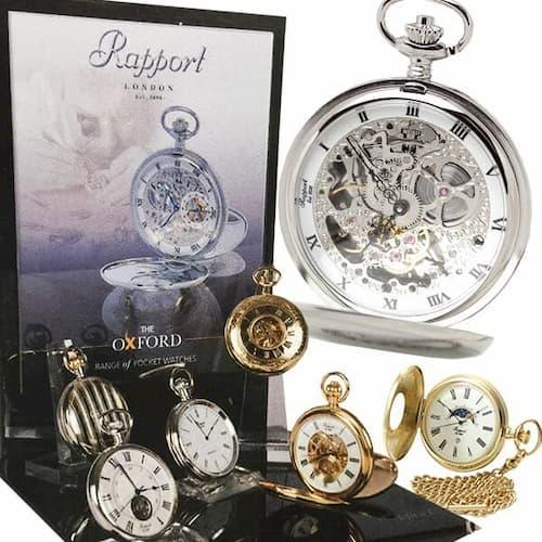 アクセサリー感覚で大切にお使いいただけるロンドン ラポート懐中時計