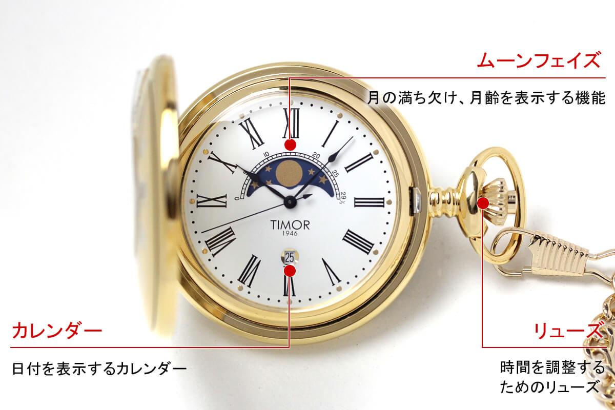 timor(ティモール) 懐中時計 tp104ja01 スペック