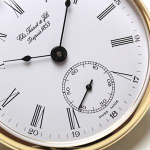 ティソ懐中時計 6時方向にスモールセコンド