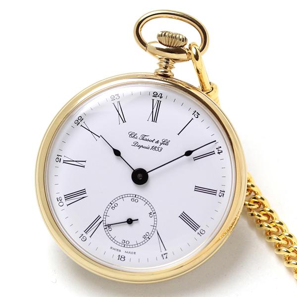 ティソ 懐中時計 t82440213 手巻き式