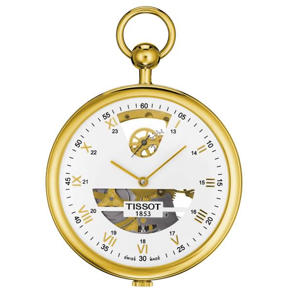 ティソ 懐中時計 スケルトン