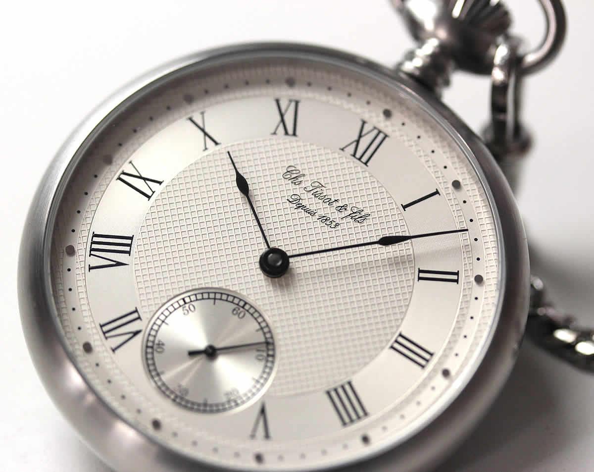 ギョーシェ文字盤 懐中時計