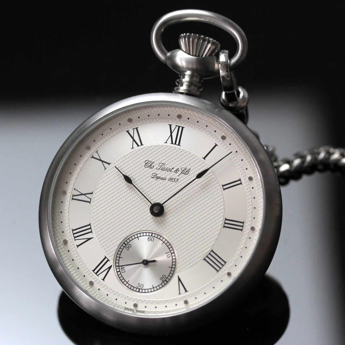 ティソ 懐中時計 機械式