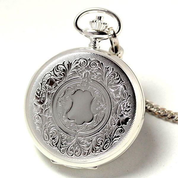 銀無垢懐中時計のケース刻印模様 表側