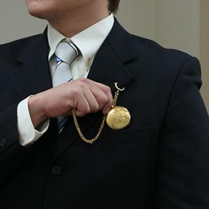 ゴールドカラー 懐中時計
