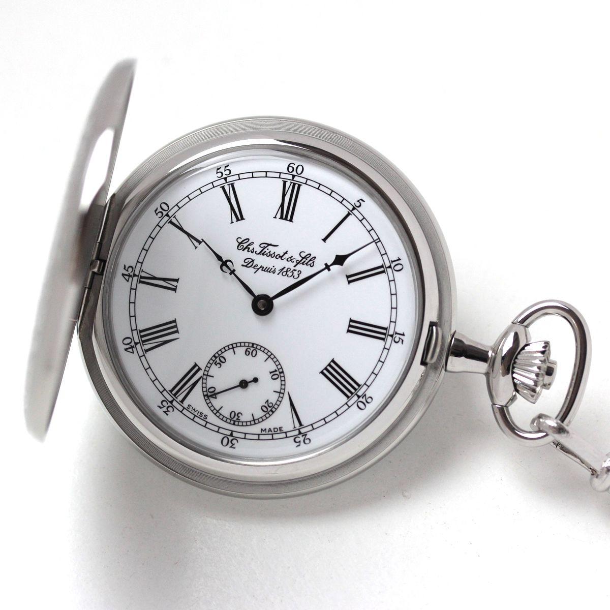 ティソ サボネット メカニカル 懐中時計 t83645413