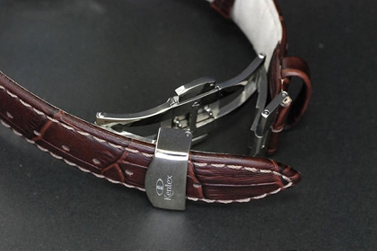 エスパイ ブラウンカーフ革ベルト e573m-05