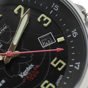 s715m-03 Kentex JSDF ソーラー 腕時計 カレンダー