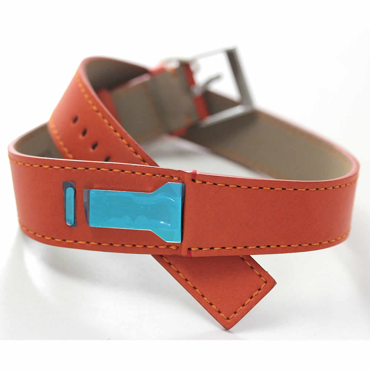 klokers(クロッカーズ)腕時計用ダブルストラップ ベルト オレンジ KLINK-02 420C8