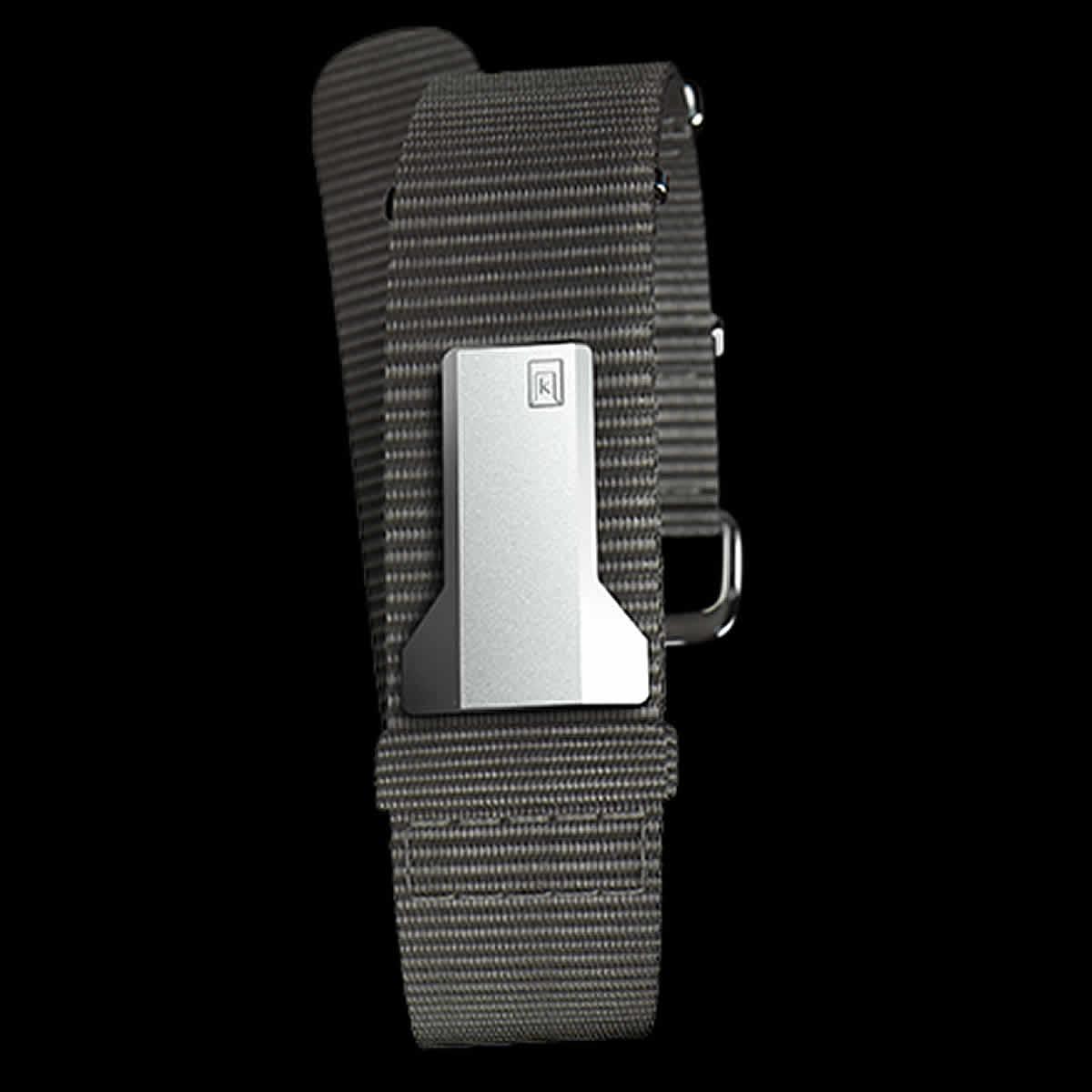klokers(クロッカーズ) 腕時計用ベルト オレンジ ストラップ グレー