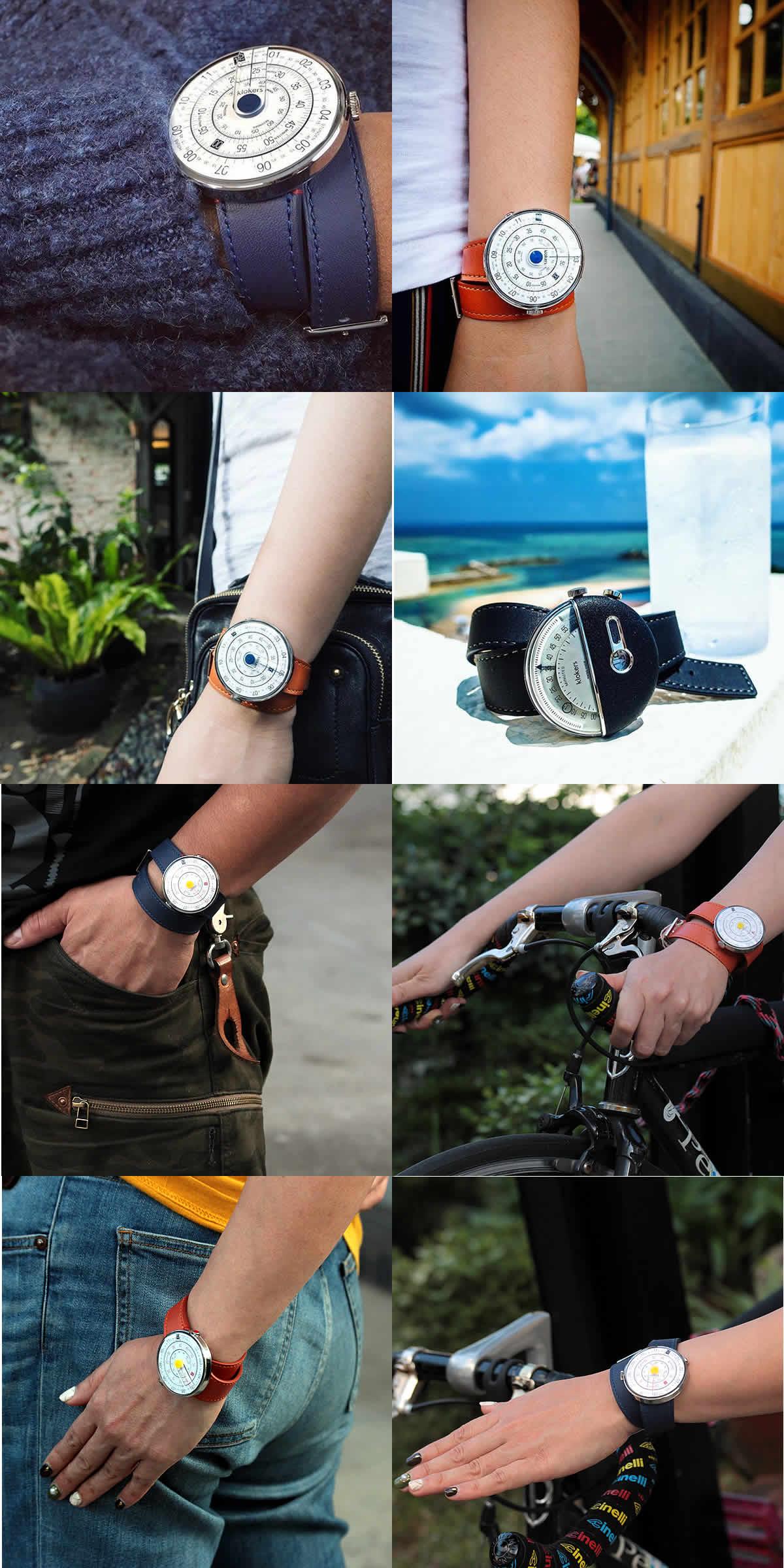 回転式ディクス型腕時計
