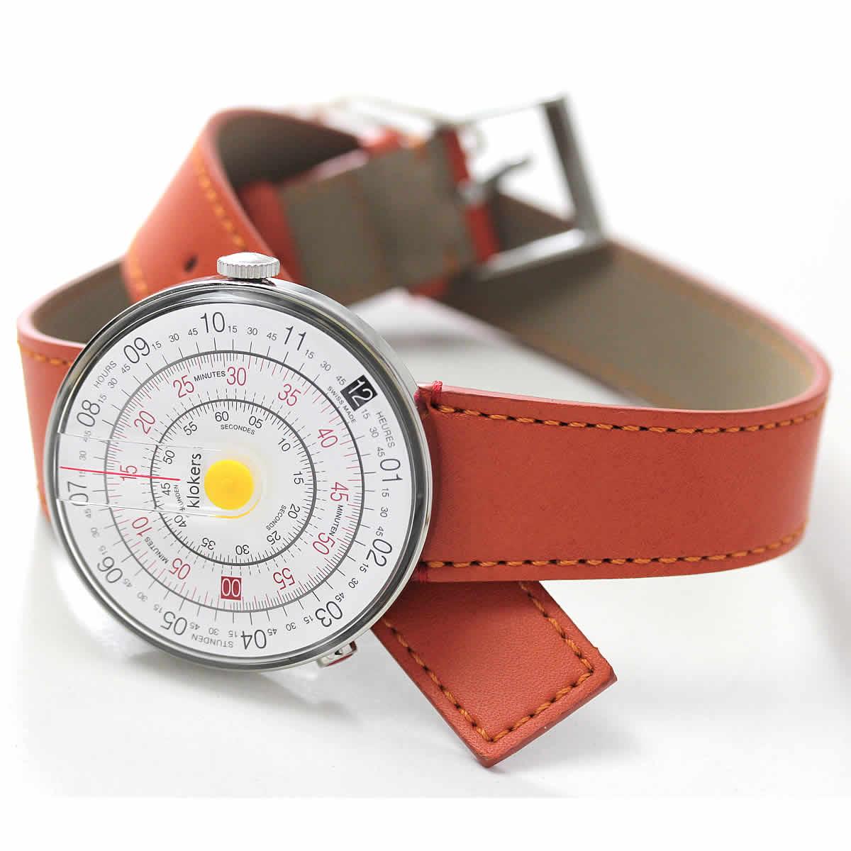 こちらはklokers(クロッカーズ)KLOK-01-D1 腕時計とダブルストラップ ベルト オレンジ KLINK-02 420C8のベルトをセットにしてお届けいたします。