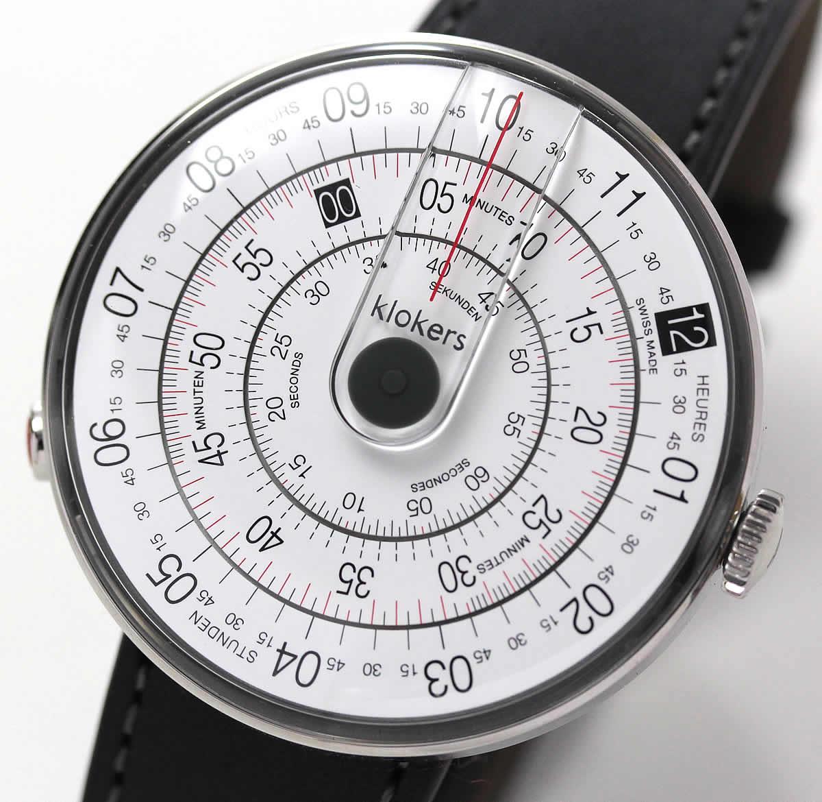回転ディスク型腕時計