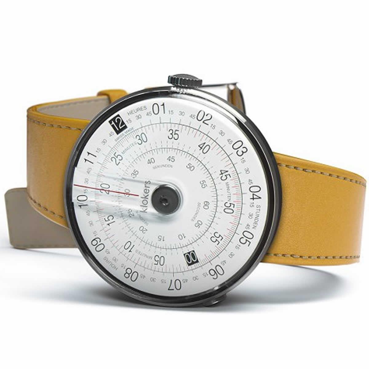 こちらはklokers(クロッカーズ)KLOK-01-D2 腕時計とニューポートイエローのベルトをセットにしてお届けいたします。