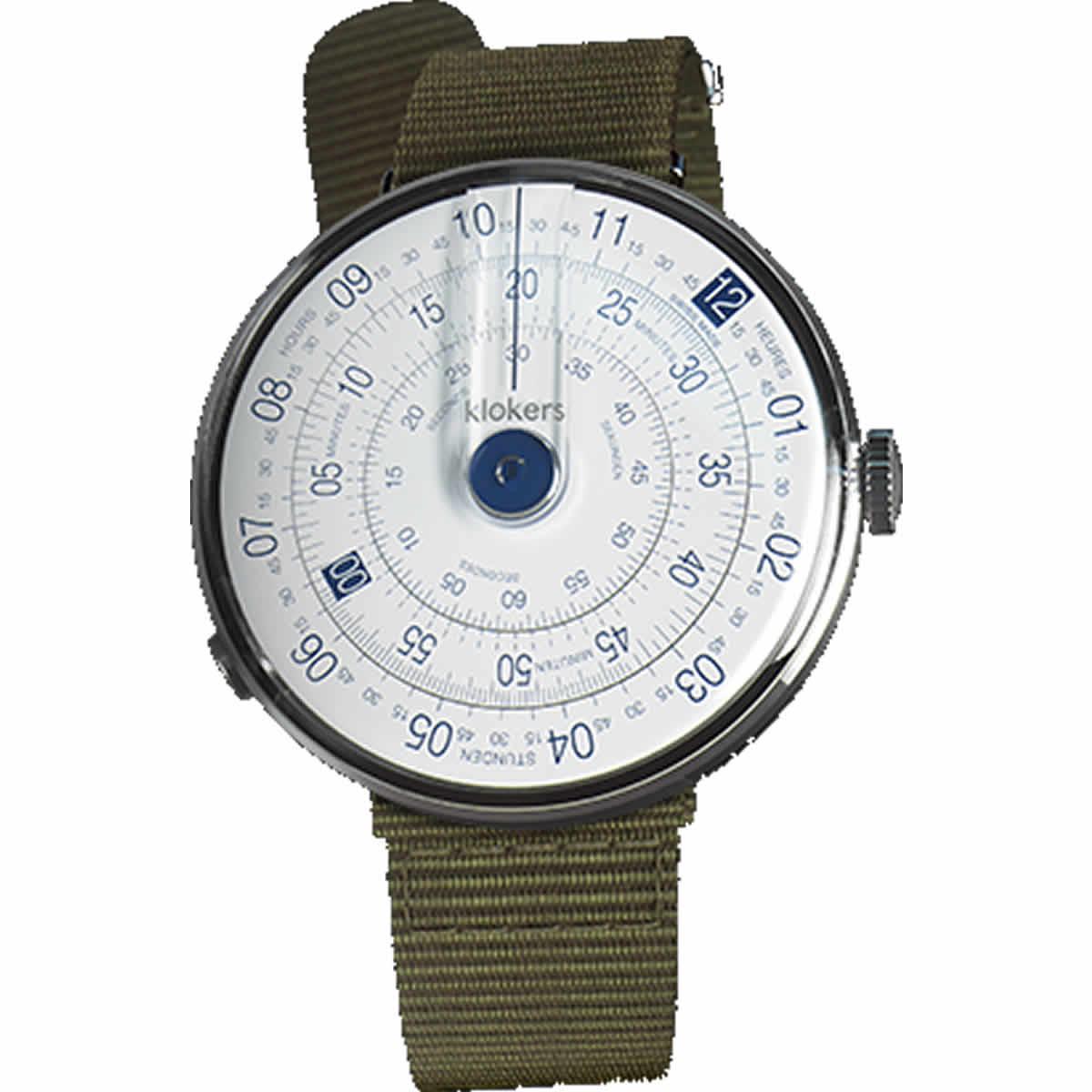 こちらはklokers(クロッカーズ)KLOK-01-D4 腕時計とナイロンベルト グレーのベルトをセットにしてお届けいたします。