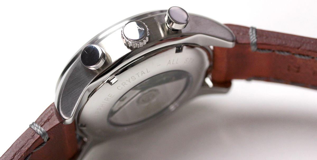 肉厚な革ベルト 861584 腕時計 ラコ時計