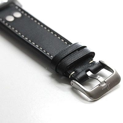 カーフ型押し 尾錠