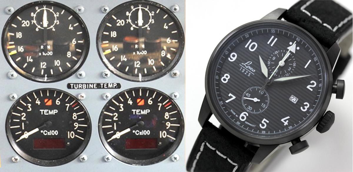 計器 航空 パイロットウォッチ 861975 ラコ laco