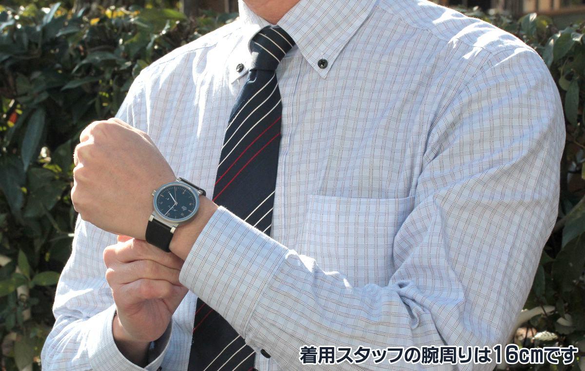 LACO Absolute ラコ アブソルート 880203 正美堂の男性スタッフが着用。腕周りは16cmです。