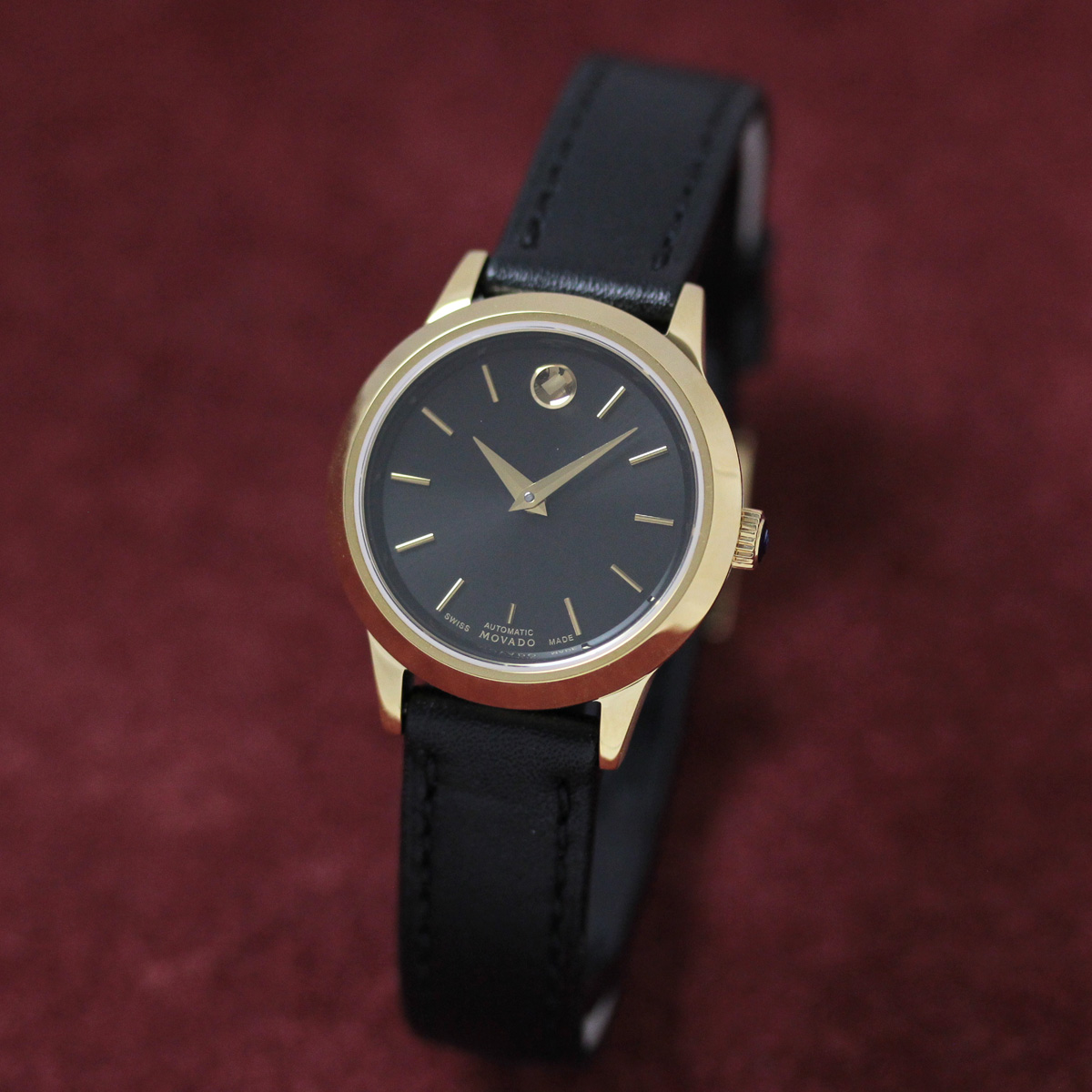 モバード 自動巻き 女性用腕時計m06069258303l