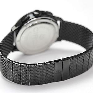 モバード時計 メッシュタイプのPVDブラックベルト