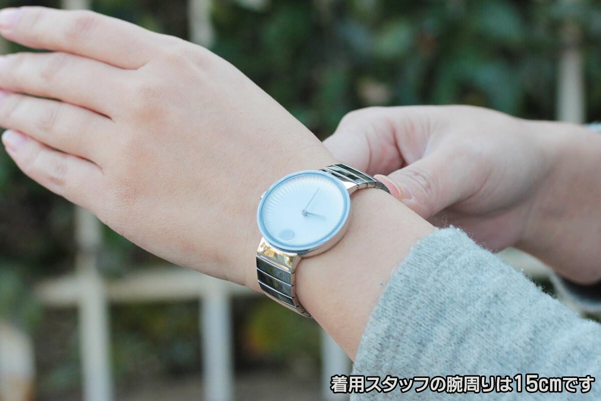 MOVADO EDGE モバード エッジ 腕時計 e36800128105s 着用イメージ