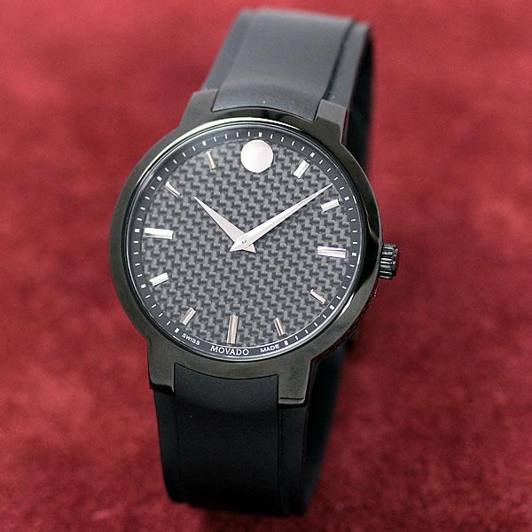 MOVADO メンズ PVDブラック加工したこちらの時計