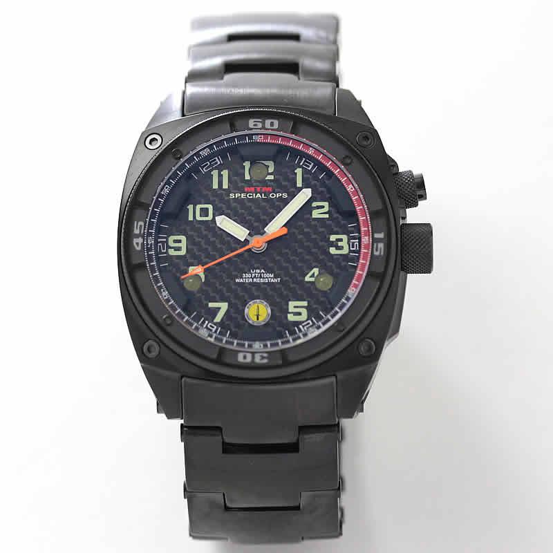 MTM ブラックファルコン ステンレス腕時計
