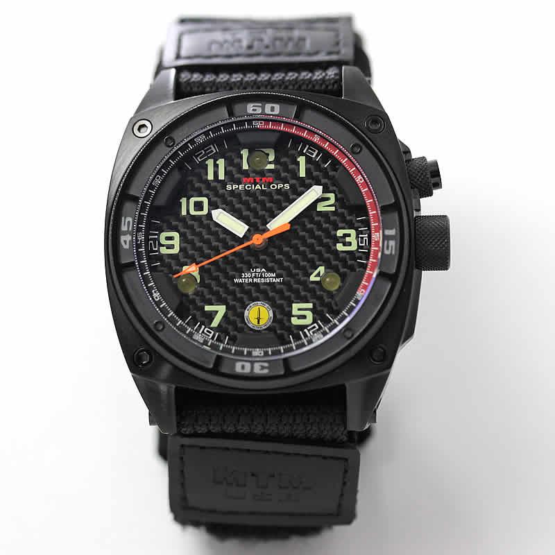 MTM スペシャルOPS ブラックファルコン TI088B ステンレス ブラック 腕時計 バリスティックバンド