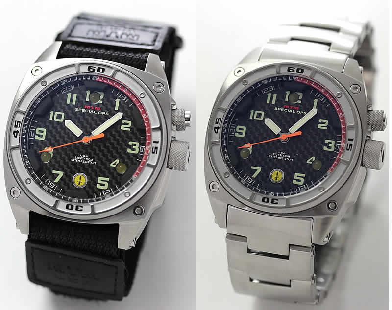 MTM スペシャルOPS シルバーファルコン TI088S  ステンレス 腕時計とバリスティックバンドセット