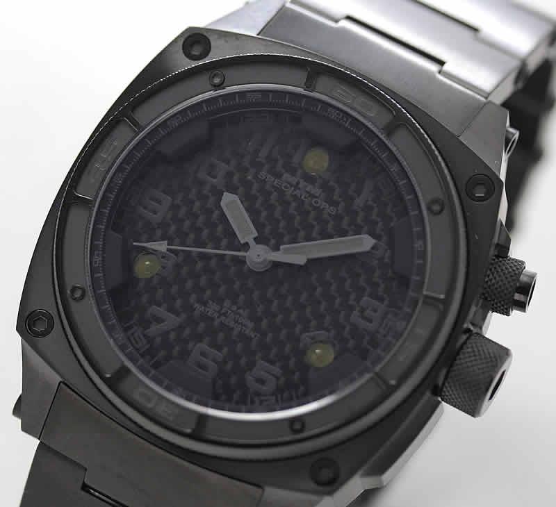 MTM ファルコン チタニウム ブラックオンブラック 腕時計