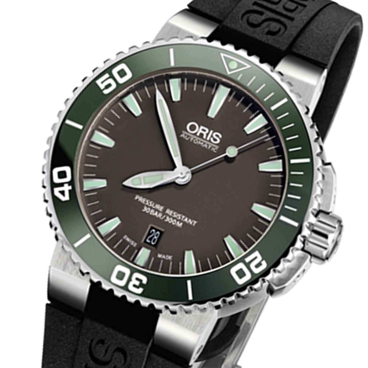 オリス 腕時計 ダイバーズ デイト 73376534137r ラバーベルト