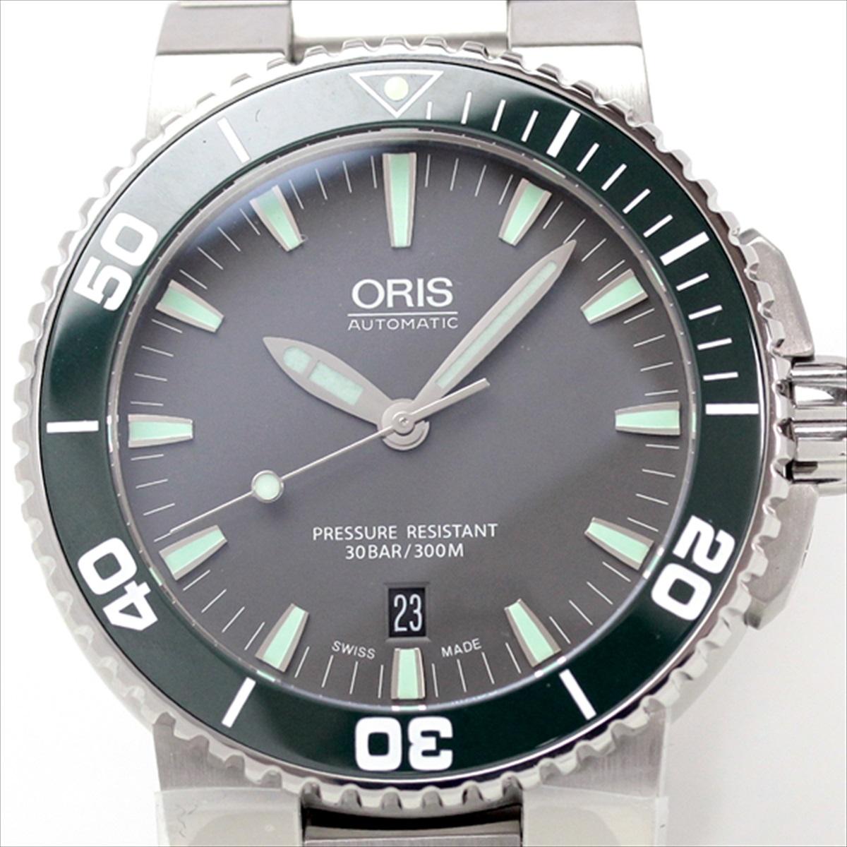 ORIS 腕時計 ダイバーズ グリーンのセラミックベゼル