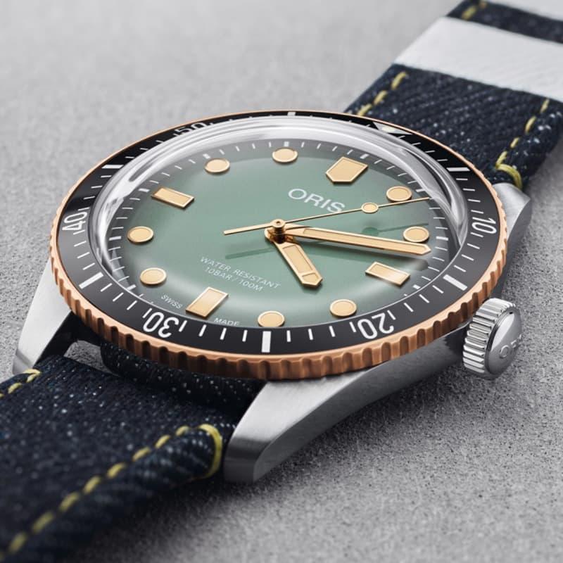 オリス(ORIS)DIVERS65(ダイバーズ65)オリス×桃太郎ジーンズ 733 7707 4337-Set 腕時計 特別モデル